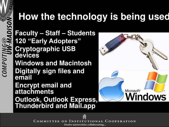 How the technology is being used