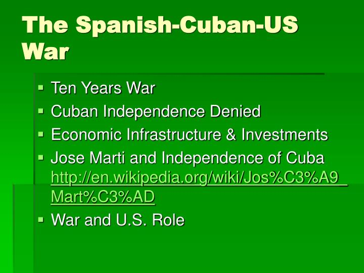 The Spanish-Cuban-US War