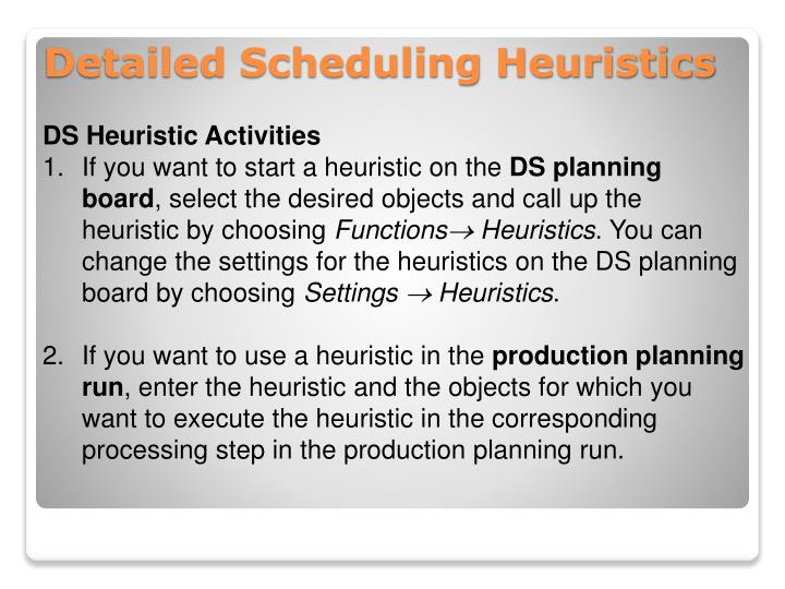DS Heuristic Activities