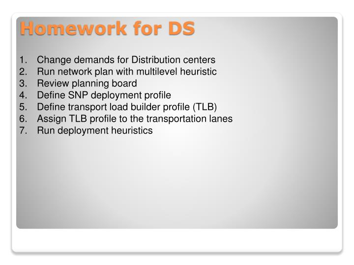 Change demands for Distribution centers