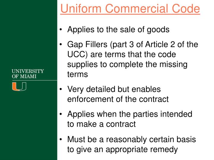 the universal commercial code