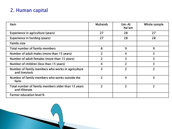 2. Human capital
