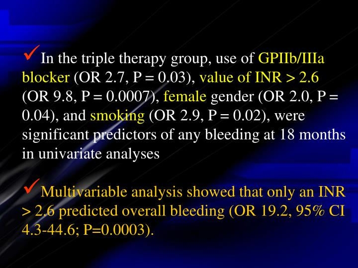 In the triple therapy group, use of