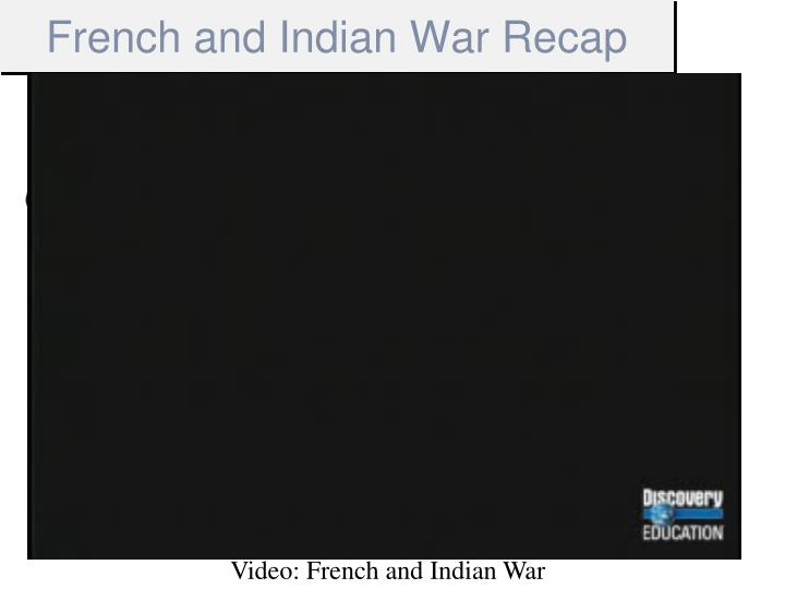 French and Indian War Recap