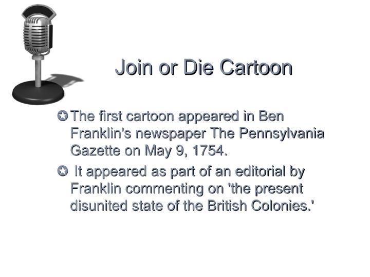 Join or Die Cartoon
