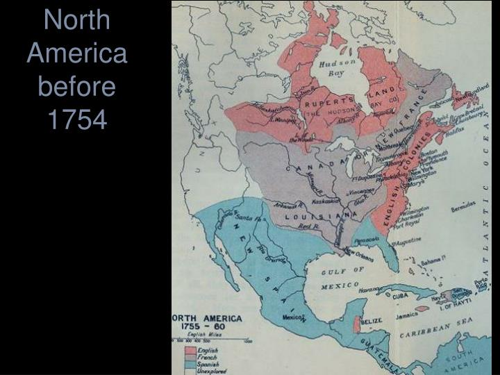 North America before 1754