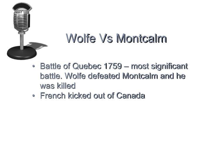 Wolfe Vs Montcalm