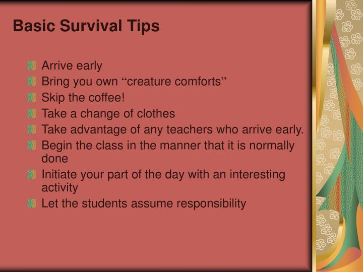 Basic Survival Tips