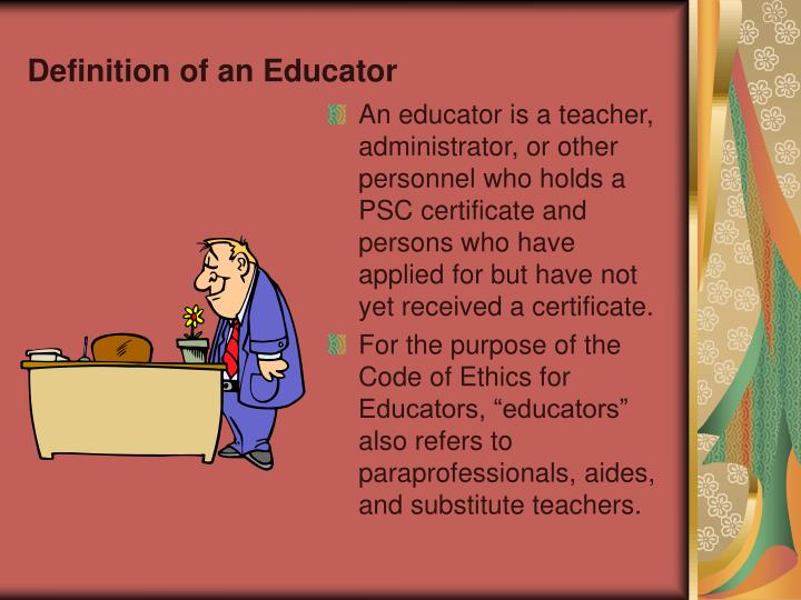 Definition of an Educator