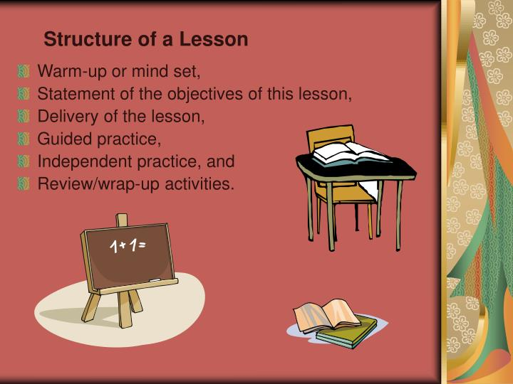 Structure of a Lesson