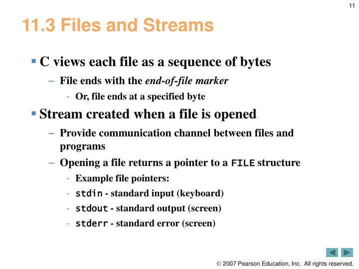 11.3 Files and Streams