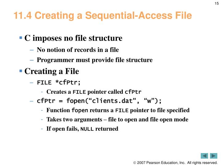 11.4 Creating a Sequential-Access File