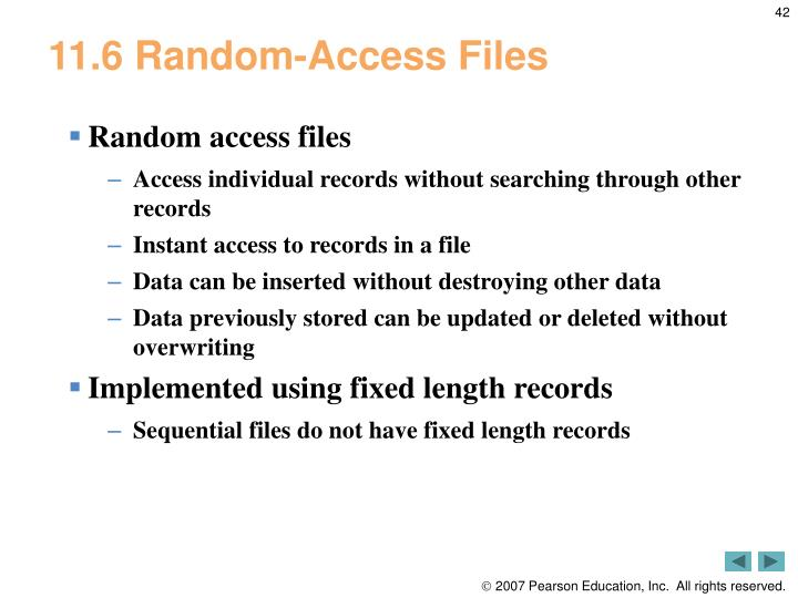11.6 Random-Access Files