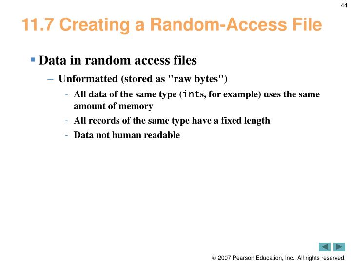 11.7 Creating a Random-Access File