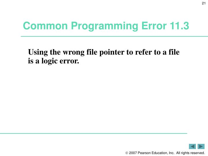 Common Programming Error 11.3