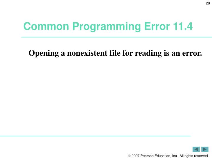 Common Programming Error 11.4