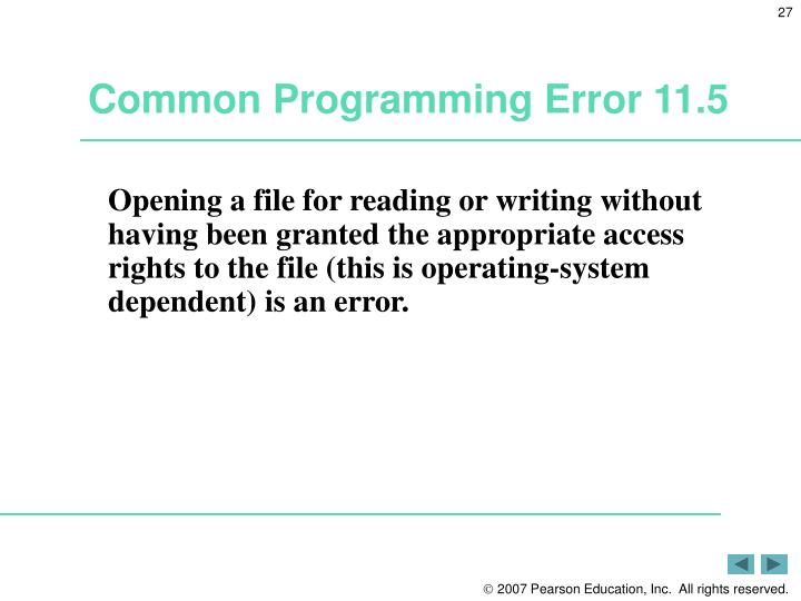 Common Programming Error 11.5