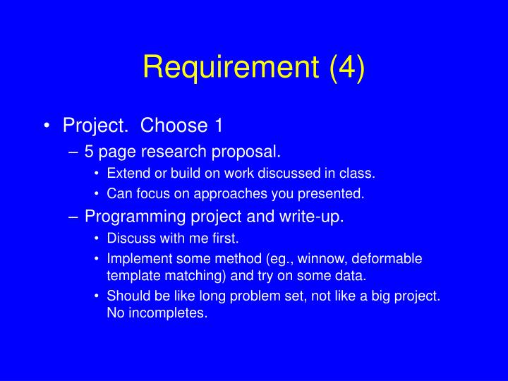 Requirement (4)