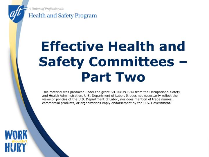 Effective health and safety committees part two