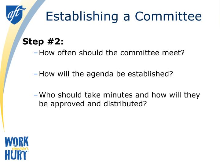 Establishing a Committee