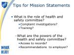 tips for mission statements