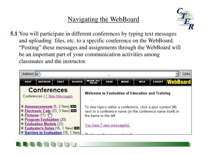 Navigating the WebBoard