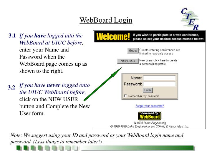 WebBoard Login