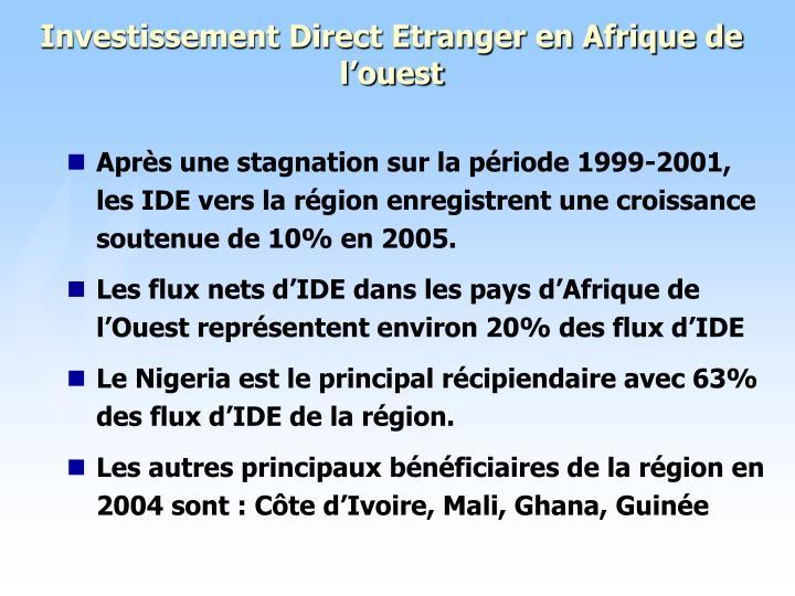 Investissement Direct Etranger en Afrique de l'ouest