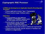 cryptographic risc processor