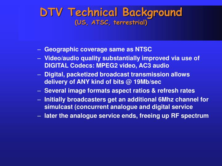 DTV Technical Background