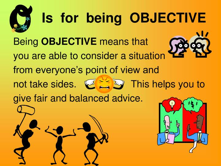 what is an objective person