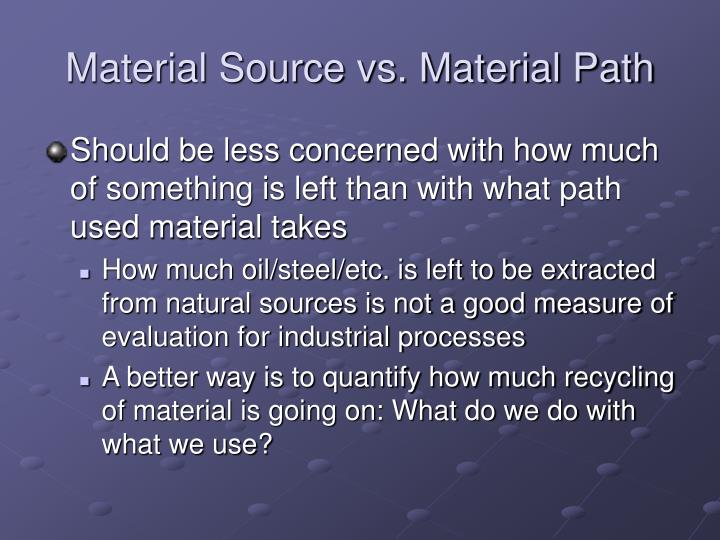 Material Source vs. Material Path