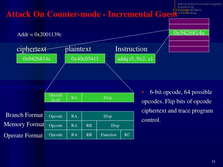 6-bit opcode, 64 possible