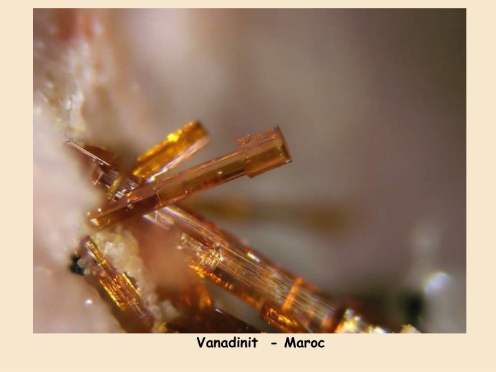 Vanadinit  - Maroc