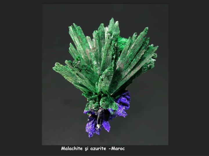 Malachite şi azurite -Maroc