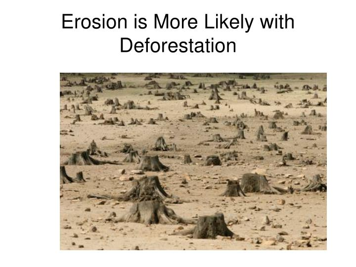 Erosion is More Likely with Deforestation