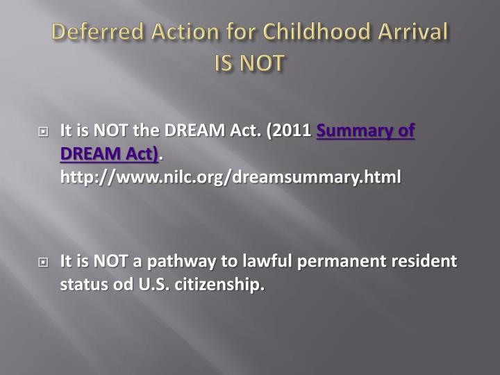 Deferred Action for