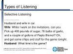 types of listening1