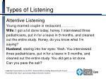types of listening2