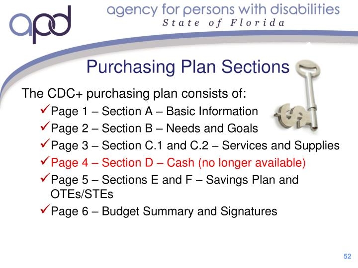 The CDC+ purchasing plan consists of: