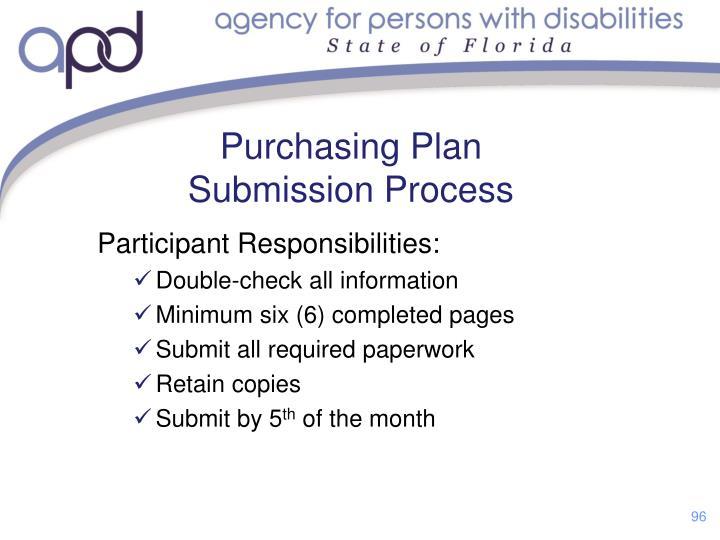Participant Responsibilities: