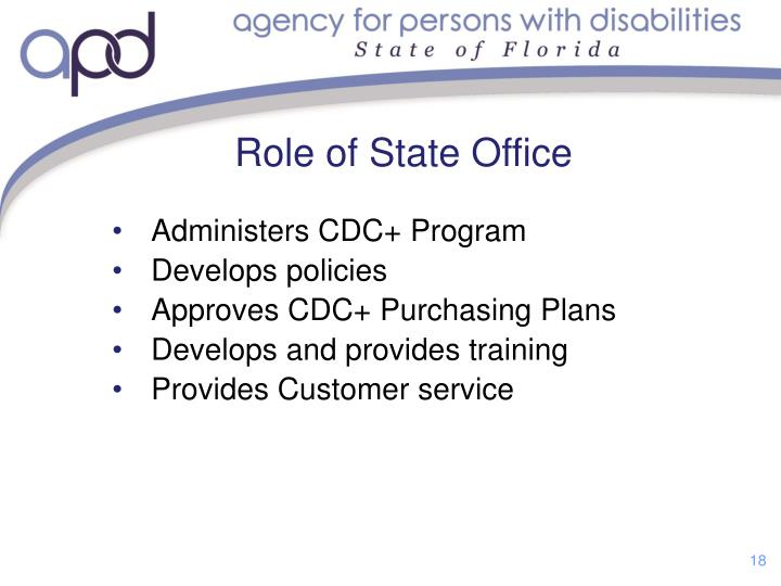 Role of State Office