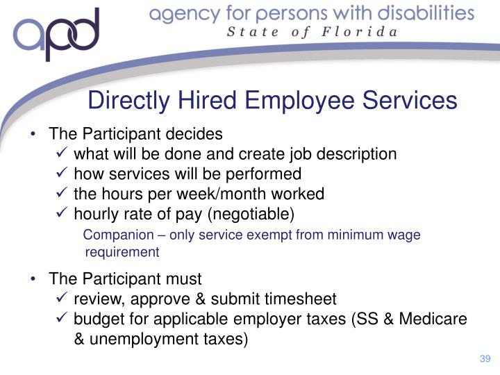 Directly Hired Employee Services