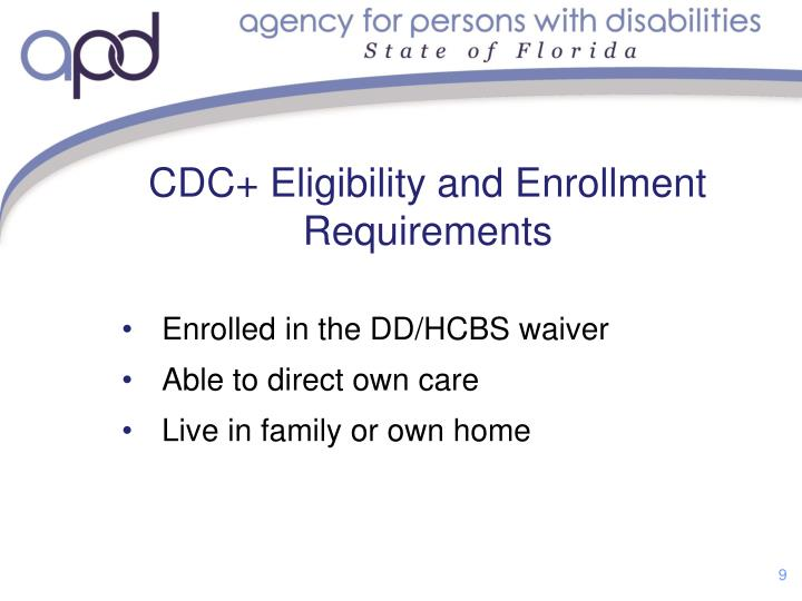 CDC+ Eligibility and Enrollment Requirements