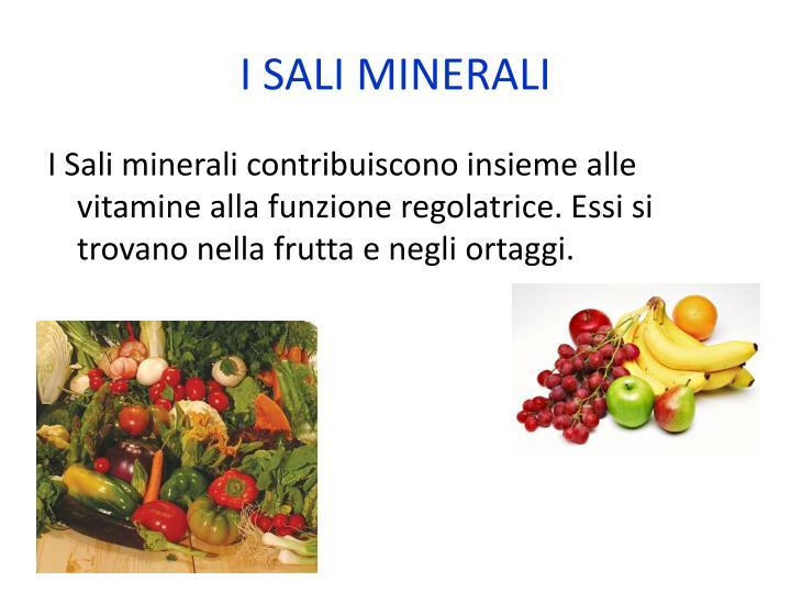 I SALI MINERALI