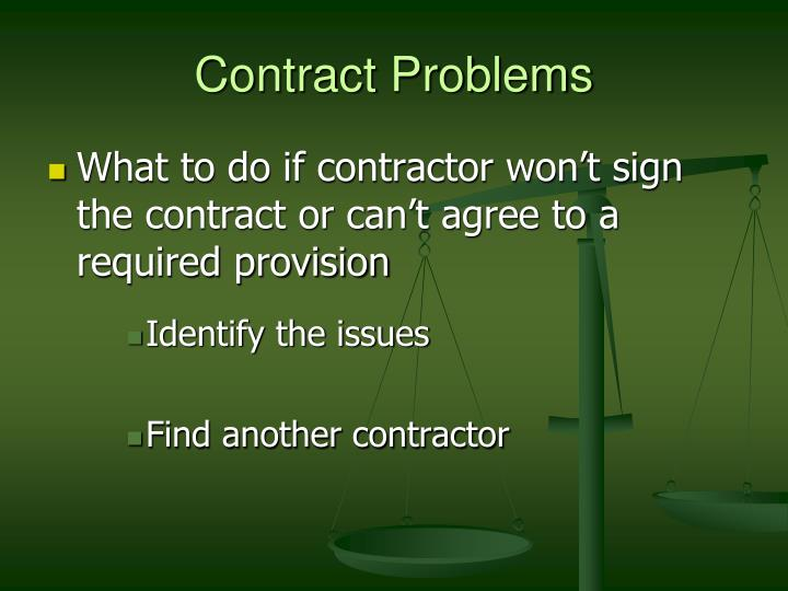 Contract Problems