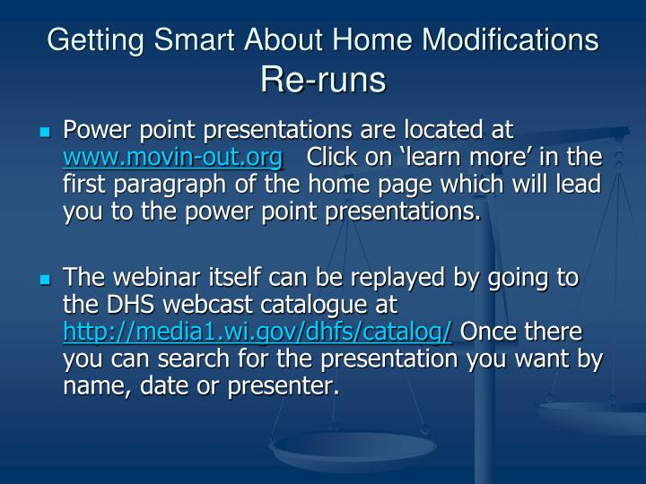 Getting Smart About Home Modifications