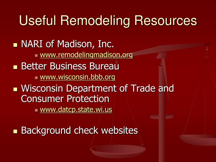 Useful Remodeling Resources
