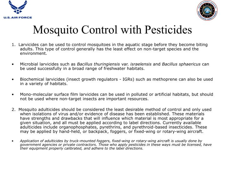 Mosquito Control with Pesticides