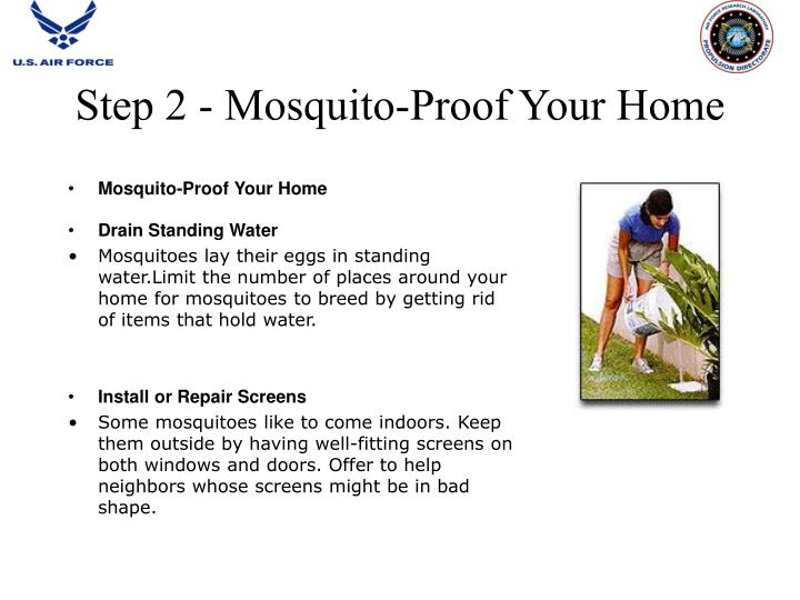 Step 2 - Mosquito-Proof Your Home